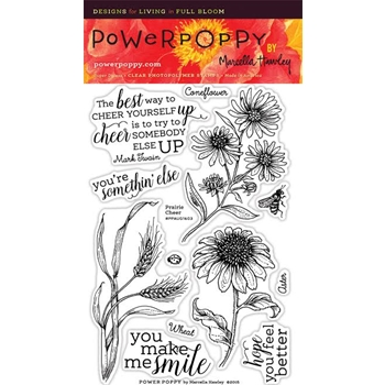 Power Poppy PRAIRIE CHEER Nature And Nurture Clear Stamp Set PPAUG1603