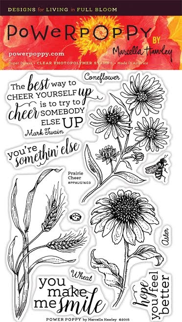 Power Poppy PRAIRIE CHEER Nature And Nurture Clear Stamp Set PPAUG1603 zoom image