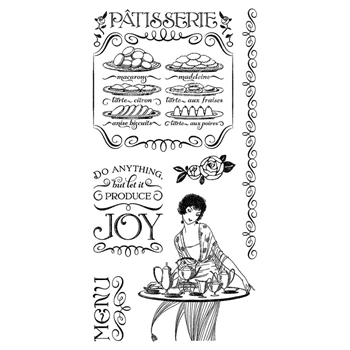 Graphic 45 CAFE PARISIAN 2 Cling Stamps IC0366*