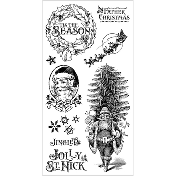 Graphic 45 ST. NICHOLAS 1 Cling Stamps IC0371