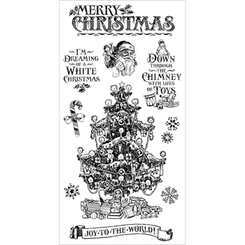 Graphic 45 ST. NICHOLAS 2 Cling Stamps IC0372