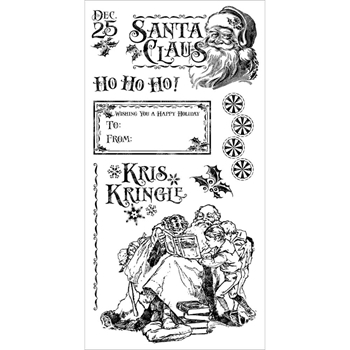 Graphic 45 ST. NICHOLAS 3 Cling Stamps IC0373