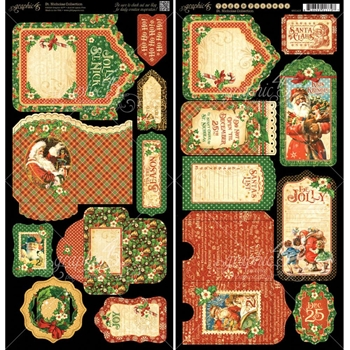 Graphic 45 ST. NICHOLAS Cardstock Tags And Pockets 4501413