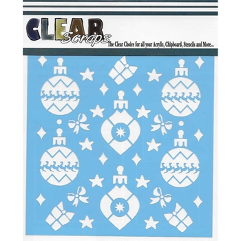 Clear Scraps HOLIDAY BULBS 6 x 6 Stencils 011521