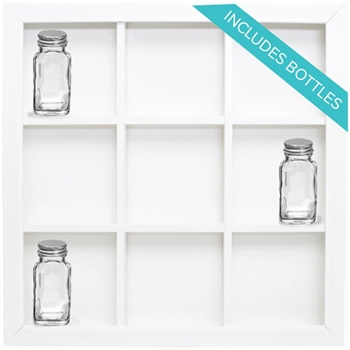 We R Memory Keepers NINE OPENING STORAGE FRAME WITH BOTTLES Shadow Box 660875