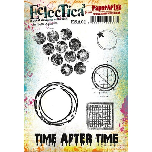 Paper Artsy SETH APTER 01 ECLECTICA3 Rubber Cling Stamp ESA01 Preview Image