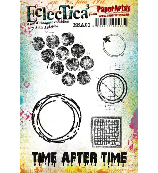 Paper Artsy SETH APTER 01 ECLECTICA3 Rubber Cling Stamp ESA01 zoom image