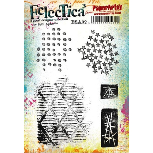 Paper Artsy SETH APTER 02 ECLECTICA3 Rubber Cling Stamp ESA02 Preview Image