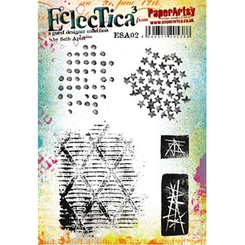 Paper Artsy SETH APTER 02 ECLECTICA3 Rubber Cling Stamp ESA02