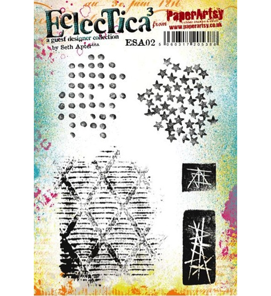 Paper Artsy SETH APTER 02 ECLECTICA3 Rubber Cling Stamp ESA02 zoom image