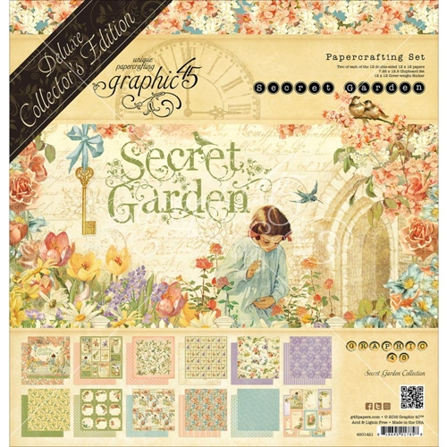 Graphic 45 SECRET GARDEN 12 x 12 Deluxe Collector's Edition 4501421 Preview Image
