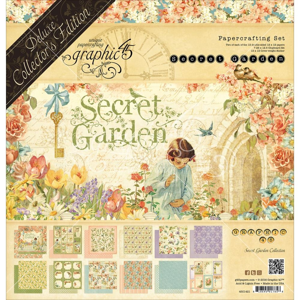 Graphic 45 SECRET GARDEN 12 x 12 Deluxe Collector's Edition 4501421 zoom image