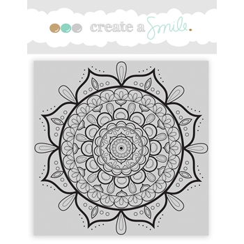 Create A Smile MANDALA Cling Stamp CGCS1