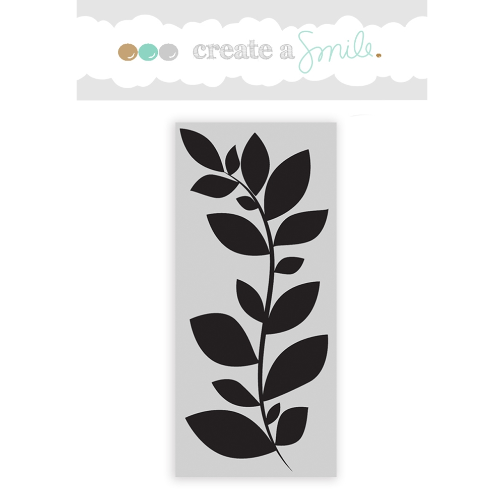 Create A Smile CLUSTERED LEAVES Cling Stamp CGCS4 zoom image