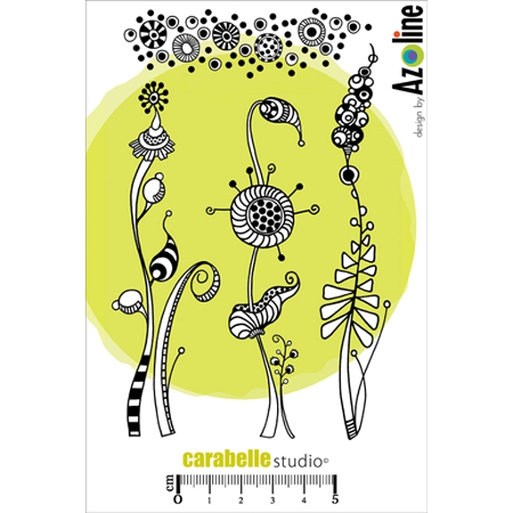 Carabelle Studio HERBES FOLLES ET TEXTURE BY AZOLINE Cling Stamp SA60112 zoom image