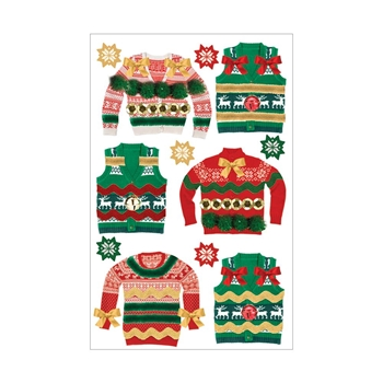Paper House UGLY SWEATERS 3D Stickers STDM0265