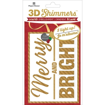 Paper House MERRY AND BRIGHT LED Shimmers Stickers EMB0018