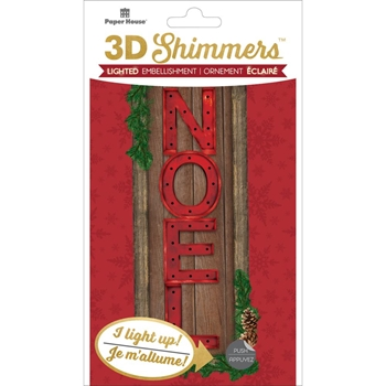 Paper House NOEL LED Shimmers Stickers EMB0011