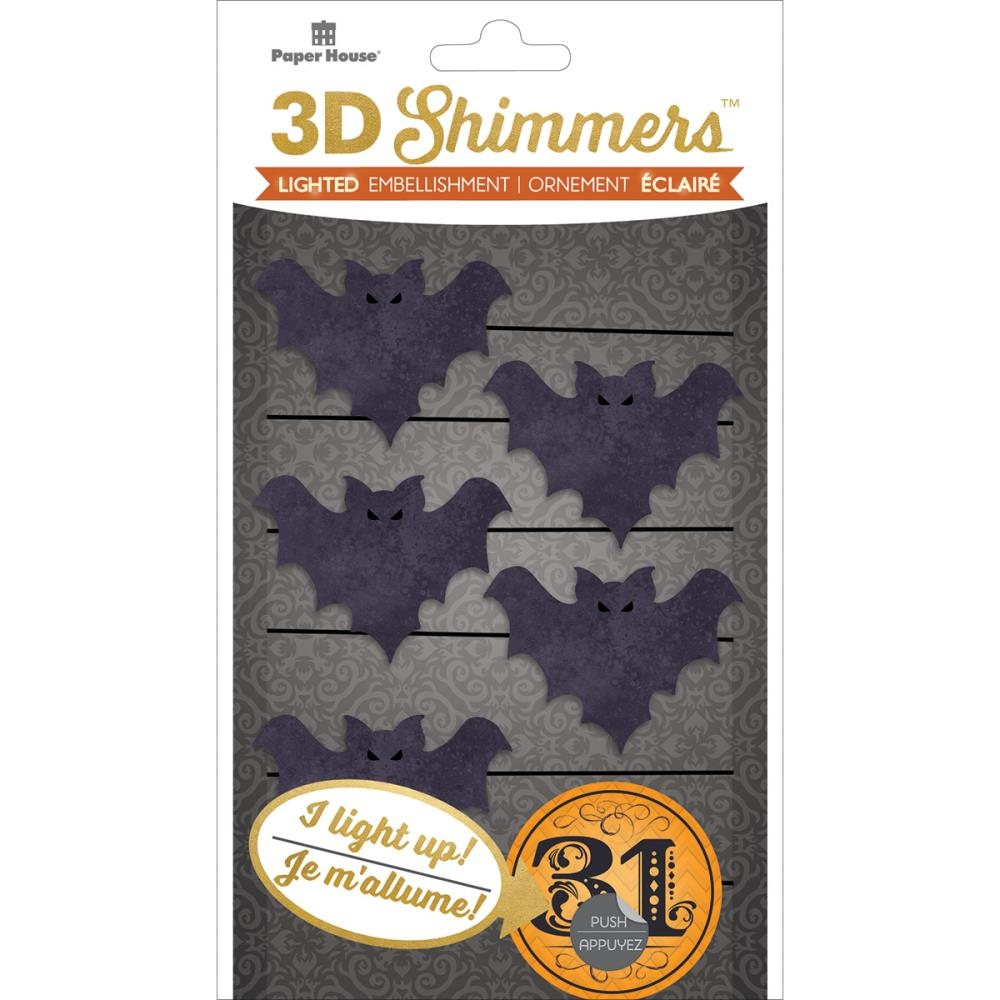 Paper House BAT GARLAND LED Shimmers Stickers EMB0040 zoom image