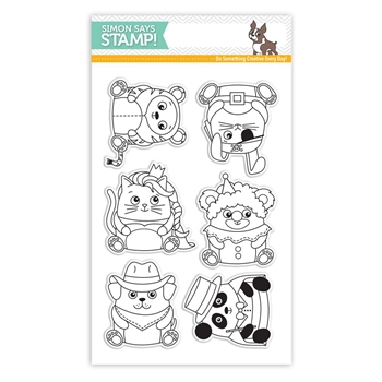 Simon Says Clear Stamps CRITTER COSTUME PARTY SSS101639 STAMPtember