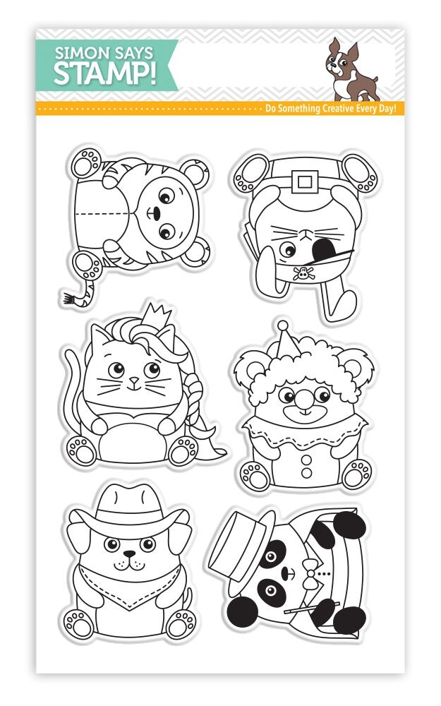 Simon Says Clear Stamps CRITTER COSTUME PARTY SSS101639 STAMPtember zoom image