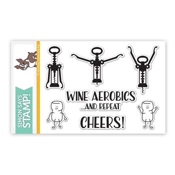 Simon Says Clear Stamps WINE AEROBICS SSS101643 STAMPtember