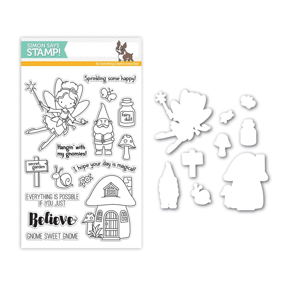 Simon Says Stamps And Dies SECRET GARDEN Set263SG zoom image