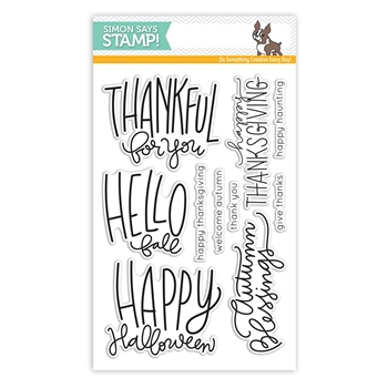 Simon Says Clear Stamps AUTUMN GREETINGS SSS101637 STAMPtember