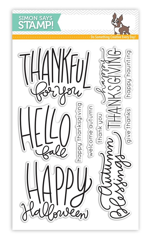 Simon Says Clear Stamps AUTUMN GREETINGS SSS101637 zoom image
