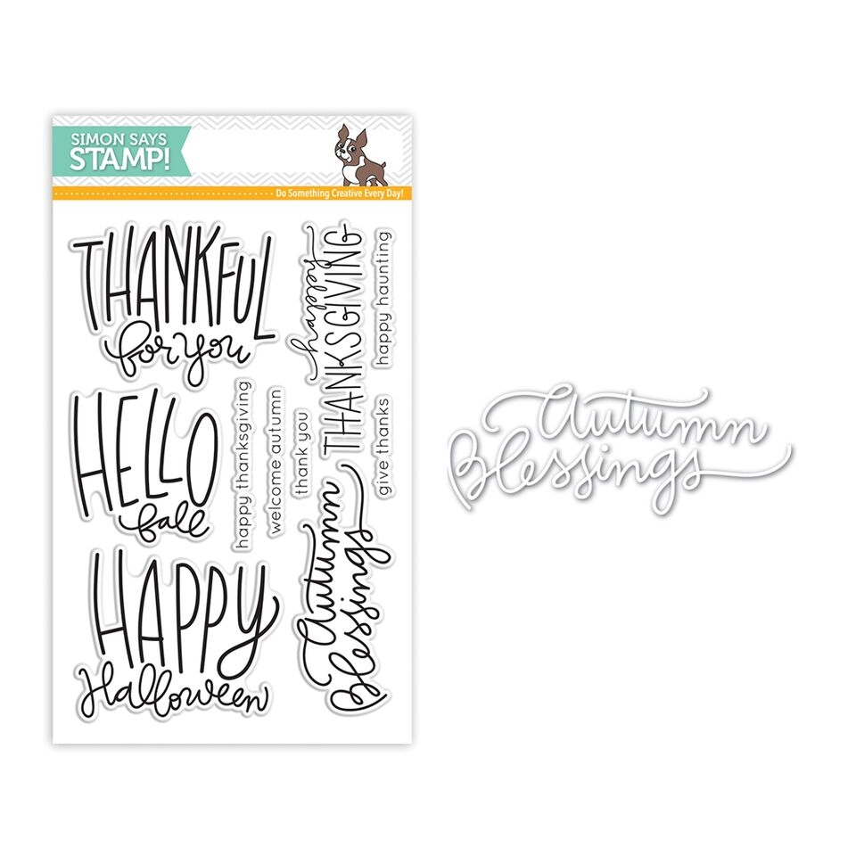 Simon Says Stamps And Dies AUTUMN GREETINGS Set273AG zoom image