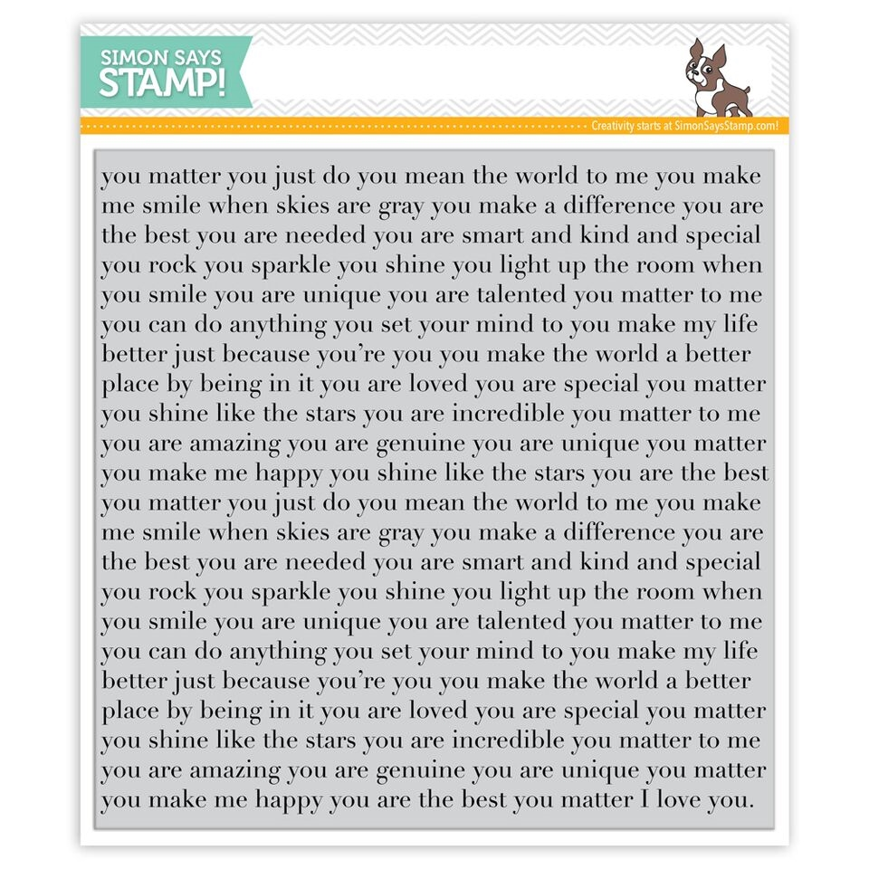 Simon Says Cling Stamps YOU MATTER BACKGROUND SSS101646 zoom image