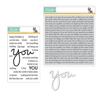 Simon Says Stamps And Dies YOU MATTER Set271YM