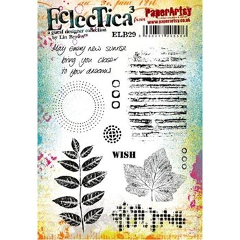 Paper Artsy ECLECTICA3 LIN BROWN 29 Rubber Cling Stamp ELB29