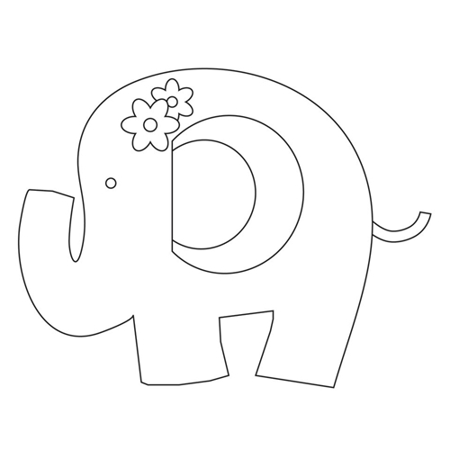 Simon Says Stamp PLUSH SWEET ELEPHANT Wafer Dies S385 Preview Image