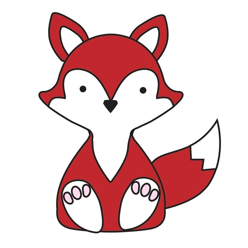 Simon Says Stamp PLUSH GENTLE FOX Wafer Dies S386 Preview Image