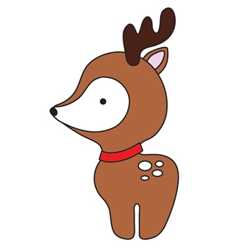 Simon Says Stamp PLUSH DEER Wafer Dies S388