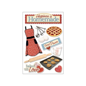 Paper House HOMEMADE 3D Stickers STDM0037