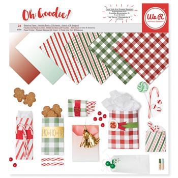 We R Memory Keepers OH GOODIE HOLIDAY BASICS 12x12 Glassine Paper 663010