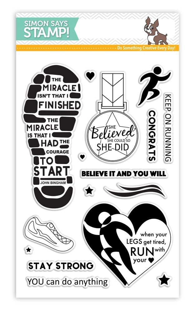 Simon Says Clear Stamps RUNNING WITH YOUR HEART SSS101628 zoom image