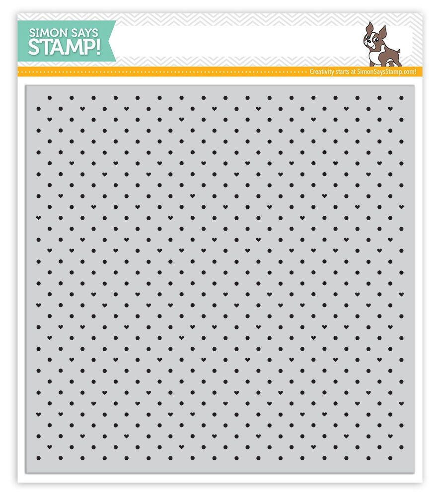 Simon Says Cling Stamps TINY DOTS AND HEARTS SSS101647 STAMPtember zoom image