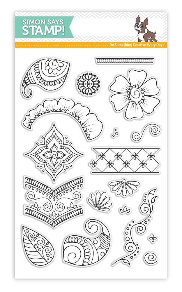 Simon Says Clear Stamps HENNA PATTERNS SSS101641 zoom image