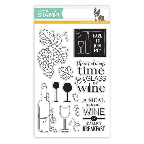 Simon Says Clear Stamps TIME FOR WINE SSS101633 Preview Image
