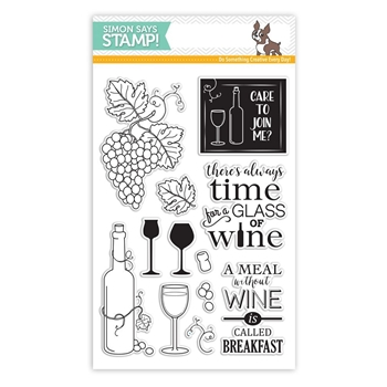 Simon Says Clear Stamps TIME FOR WINE SSS101633 STAMPtember