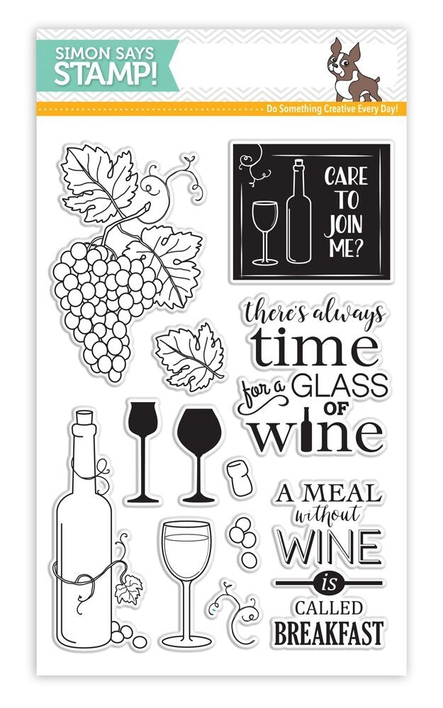 Simon's Exclusive Time For Wine Stamp Set