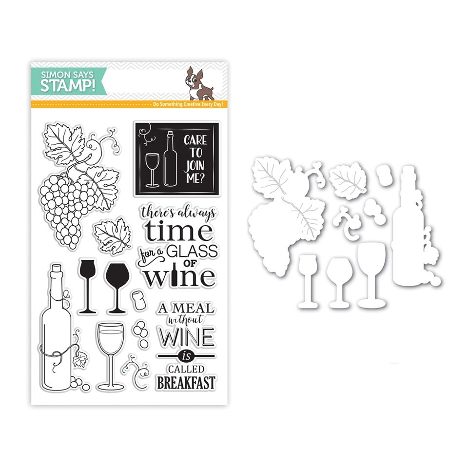 Simon Says Stamps And Dies TIME FOR WINE Set264TW zoom image