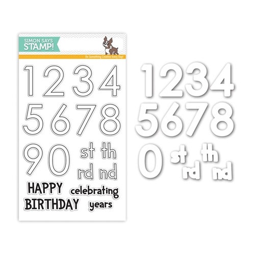 Simon Says Stamps And Dies BIG NUMBERS Set265BN Preview Image