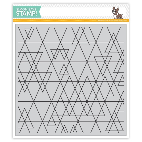 Simon Says Cling Stamps ABSTRACT TRIANGLES SSS101638 STAMPtember Preview Image