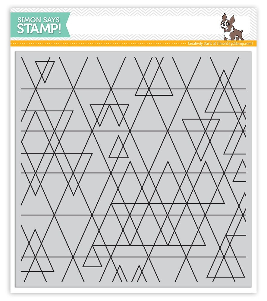 Simon Says Cling Stamps ABSTRACT TRIANGLES SSS101638 STAMPtember zoom image