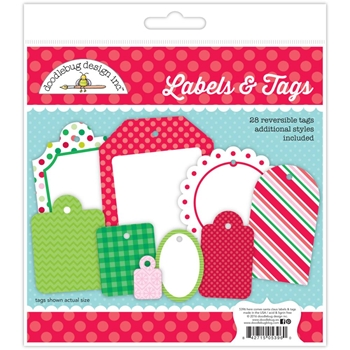 Doodlebug LABELS AND TAGS Here Comes Santa Claus 5396