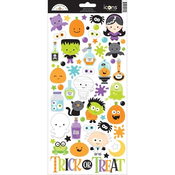 Doodlebug BOOS AND BREWS Icons Cardstock Stickers 5356